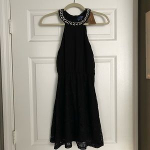 New Little Black Dress with Pearl Neckline